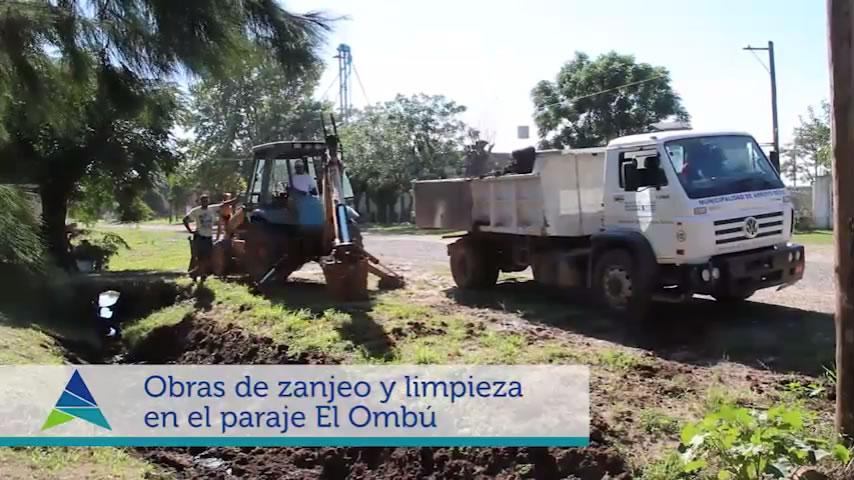 Obras de zanjeo en Pje. El Ombú