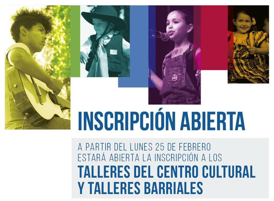 Inscripción abierta a los talleres culturales