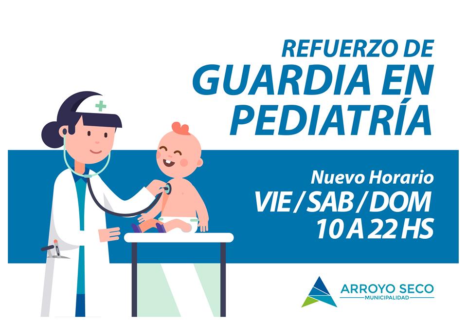 Cambio de horario en el refuerzo de Guardia en Pediatría