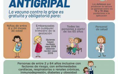 Vacunación antigripal gratuita en el Hospital y el Centro de Salud 💉🏥