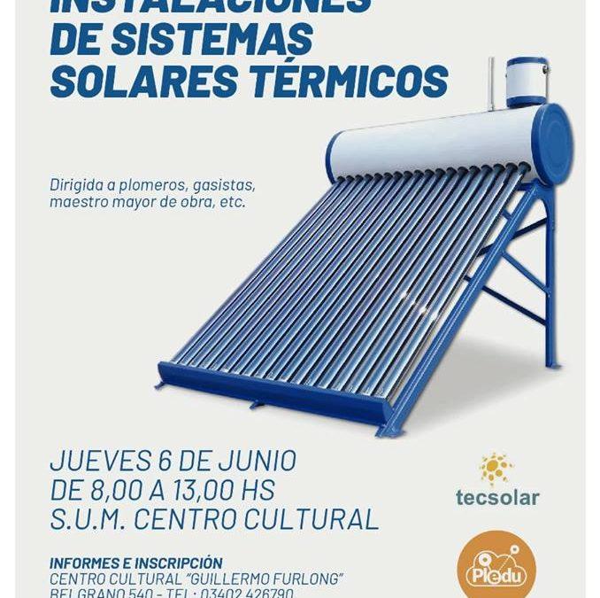 Capacitación en instalaciones de sistemas solares térmicos